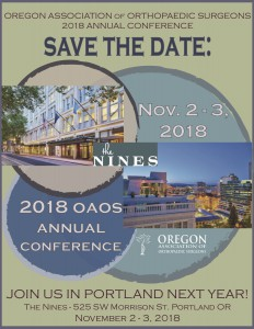 OAOS 2018 Conference save the date